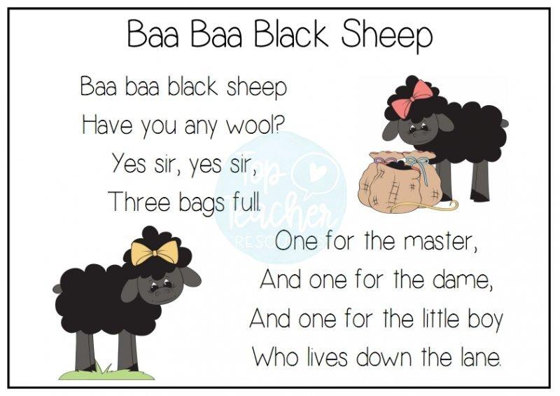 baa, baa, black sheep