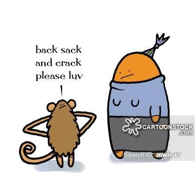 back, sack, and crack