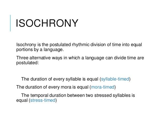 isochrony