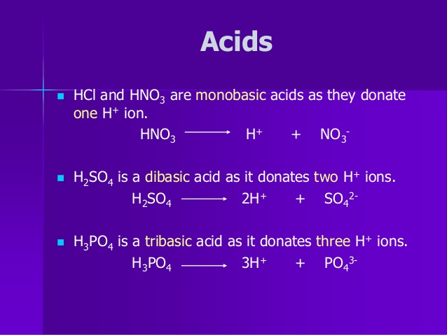monobasic acid