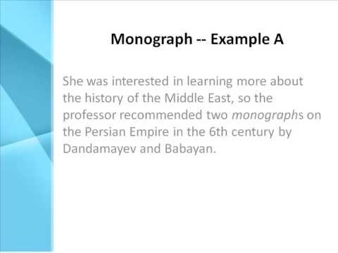 monographic