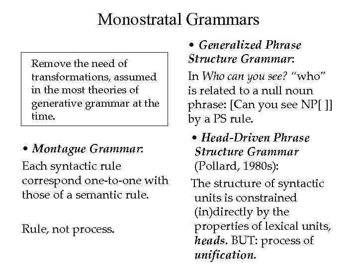 monostratal