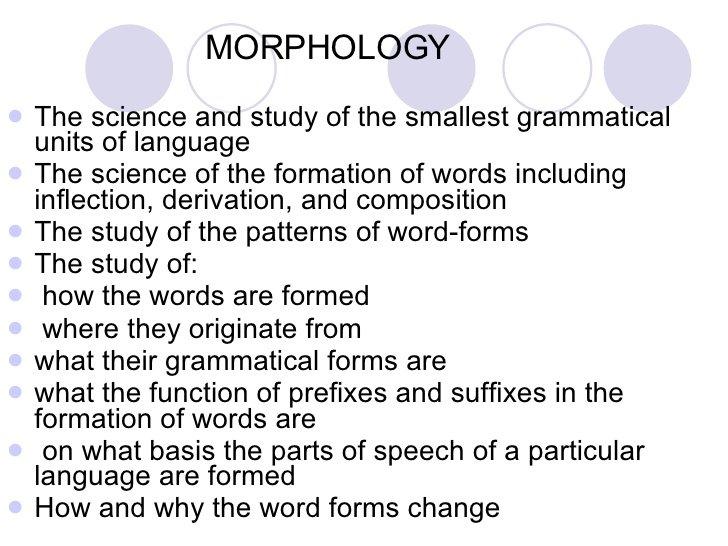 morphologically
