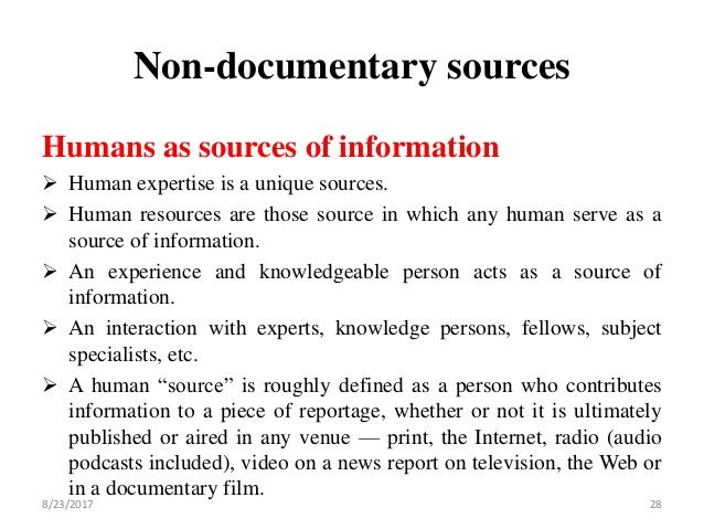 non-documentary