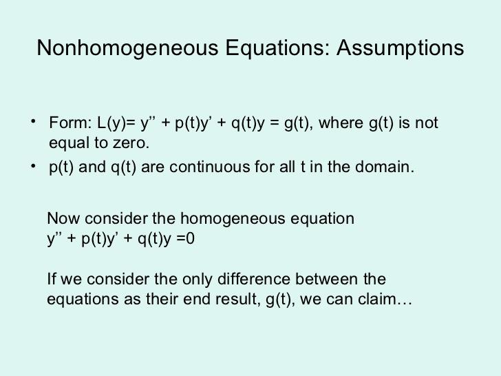non-homogeneous