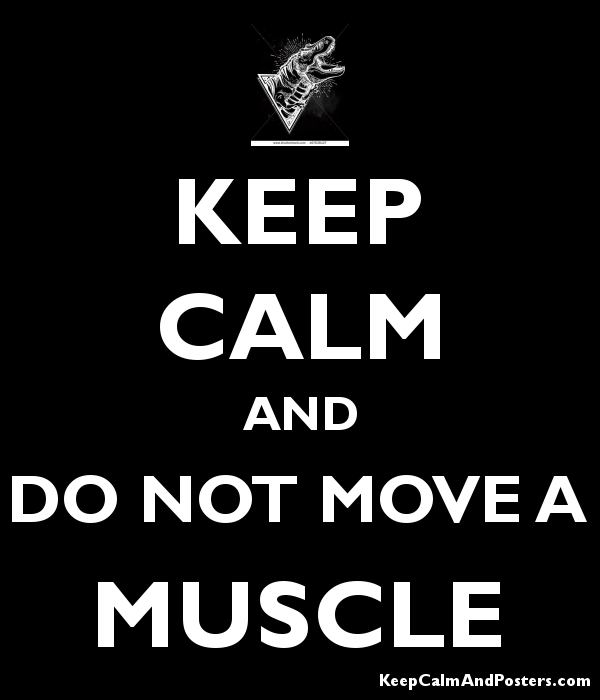 not move a muscle