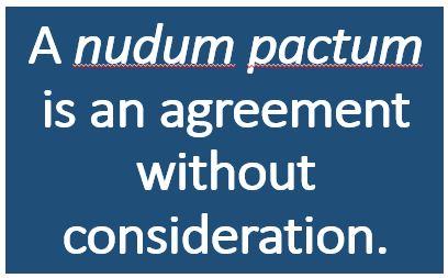 nudum pactum