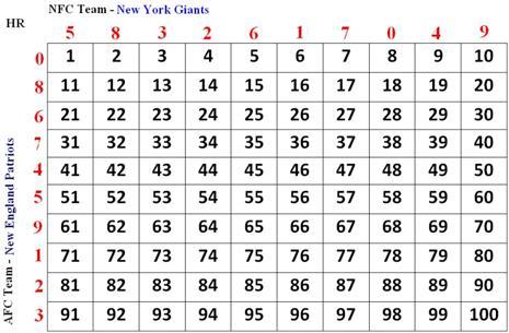 numbers pool