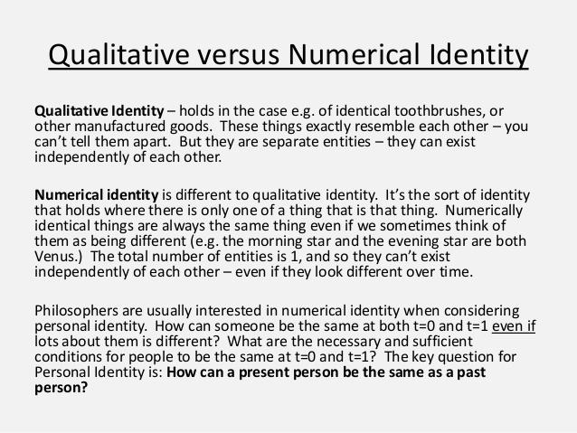 numerical identity