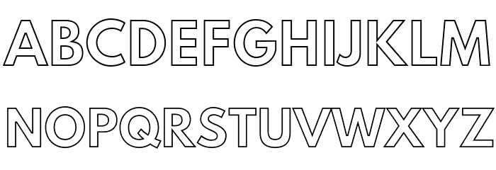 outline font - Liberal Dictionary