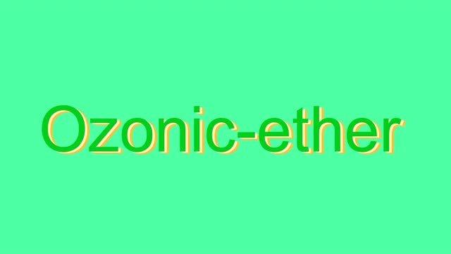 ozonic ether