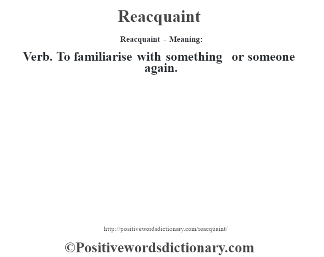 reacquaint