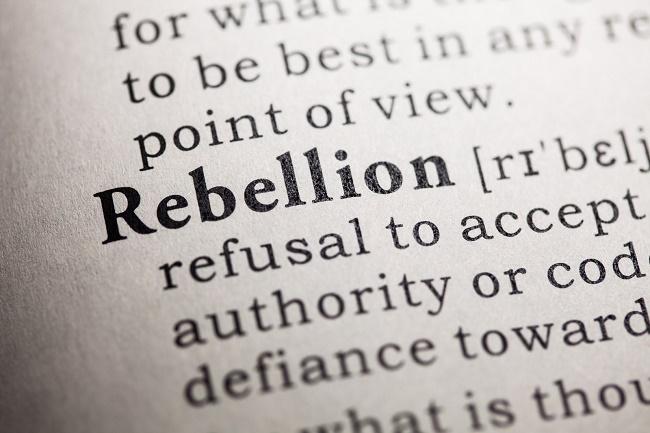 rebelling