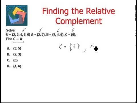 relative complement