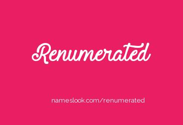 renumerated