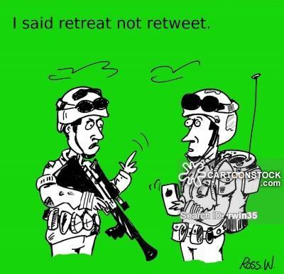 retreated