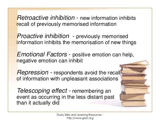 retroactive inhibition