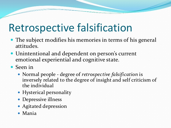 retrospective falsification