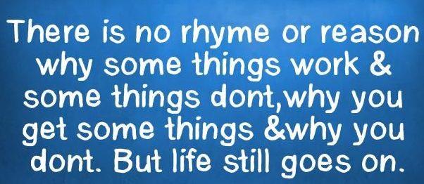 rhyme or reason, no