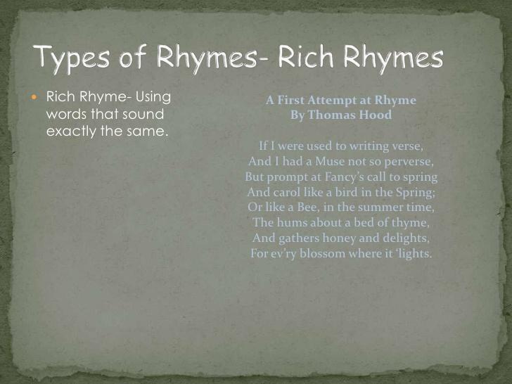 rich rhyme