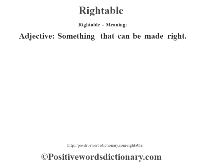 rightable