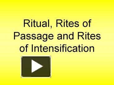 rite of intensification