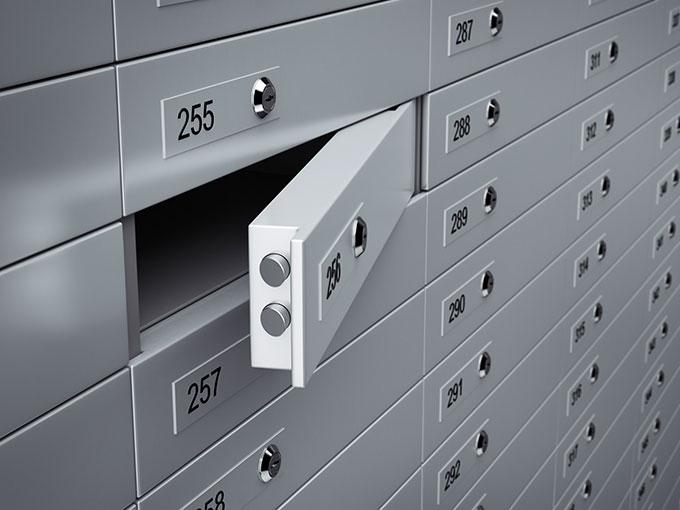 safety-deposit box