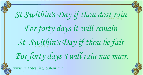 saint swithin's day