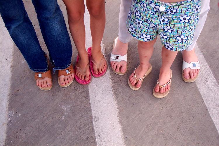 sandaled
