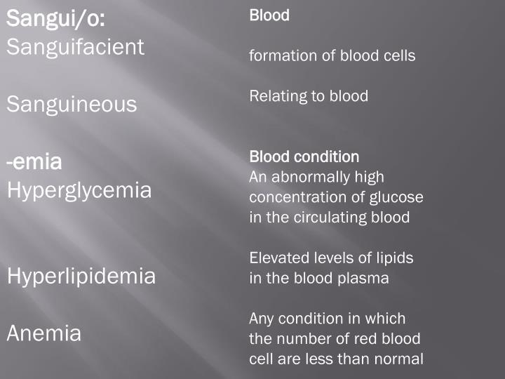 sanguifacient