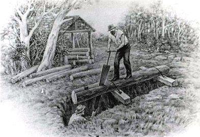 saw-pit