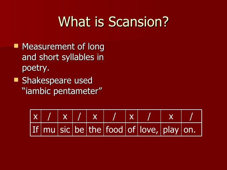 scansion