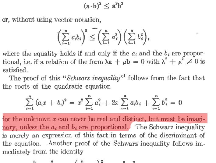 schwarz inequality