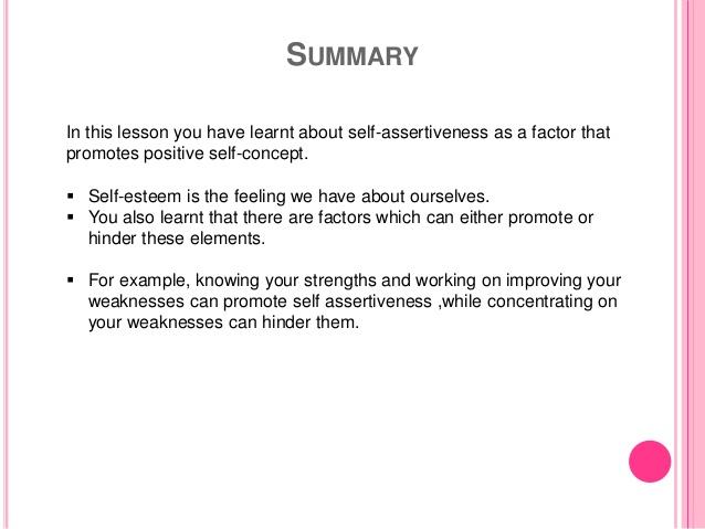 self-assertive