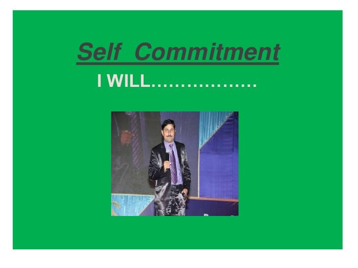 self-commitment