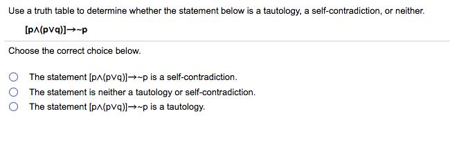 self-contradiction