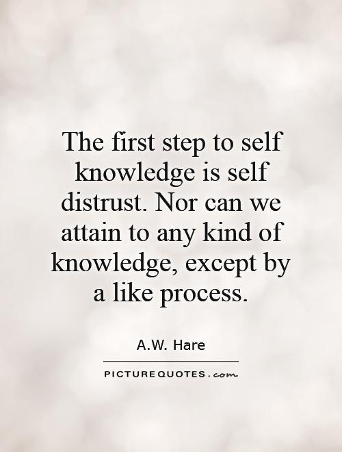 self-distrust