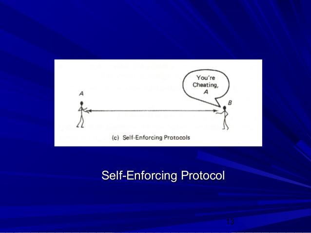 self-enforcing