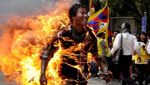 self-immolating