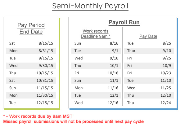 semi-monthly