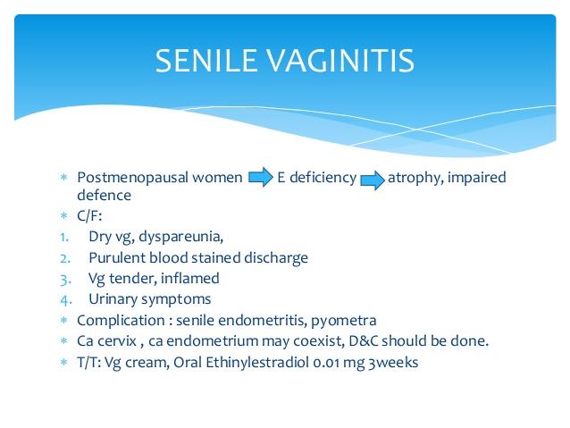 senile vaginitis