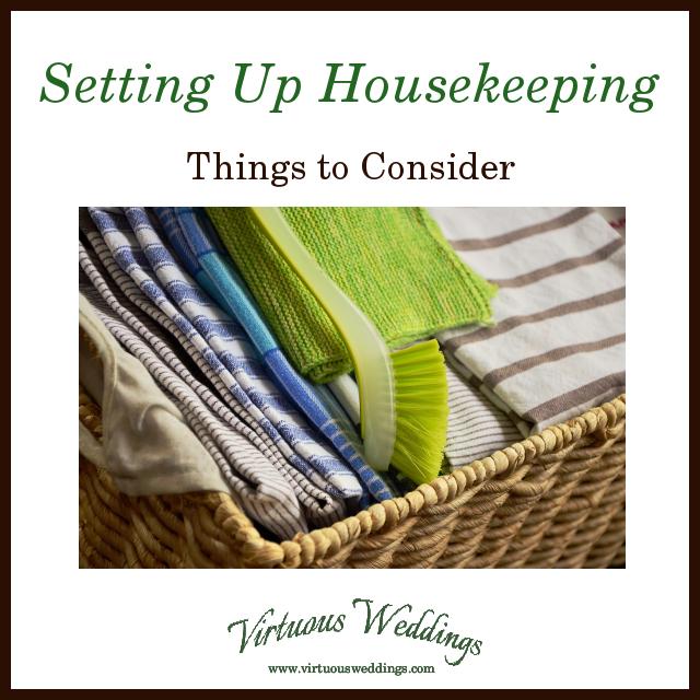 set up housekeeping