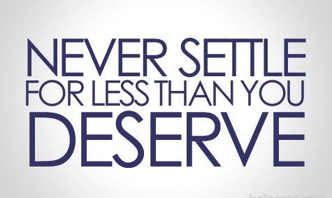 settle for