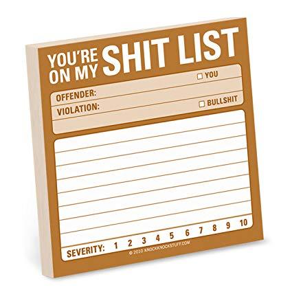 shit list