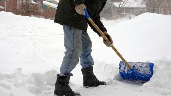 shoveled