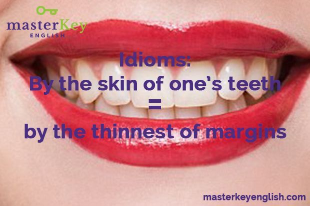 skin of one's teeth
