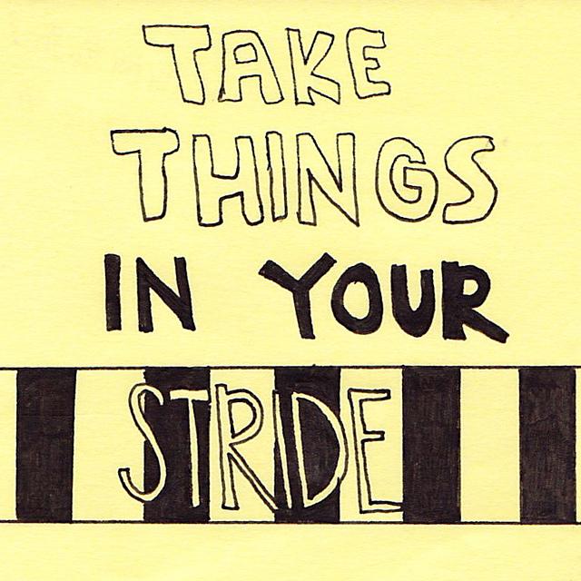 take in stride