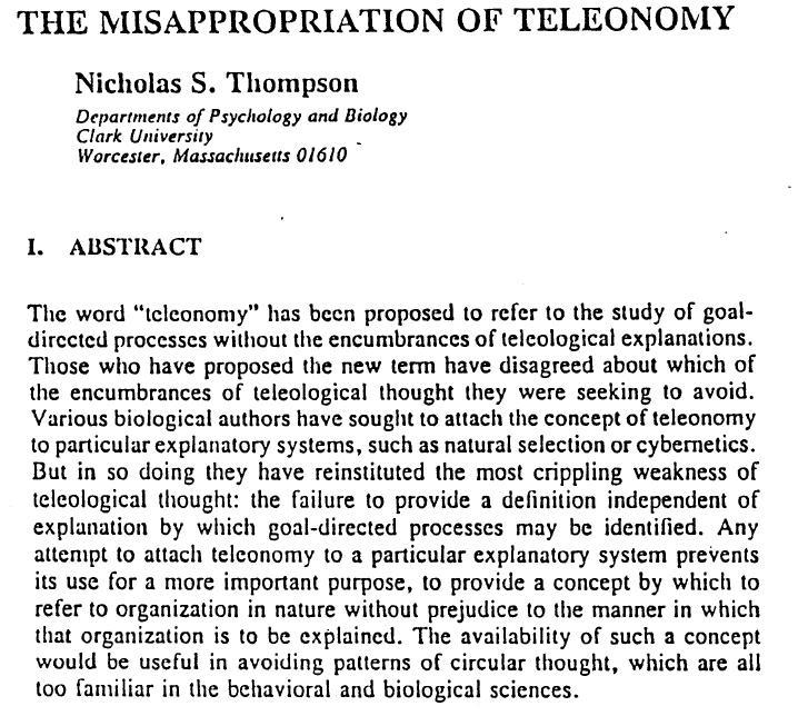 teleonomy