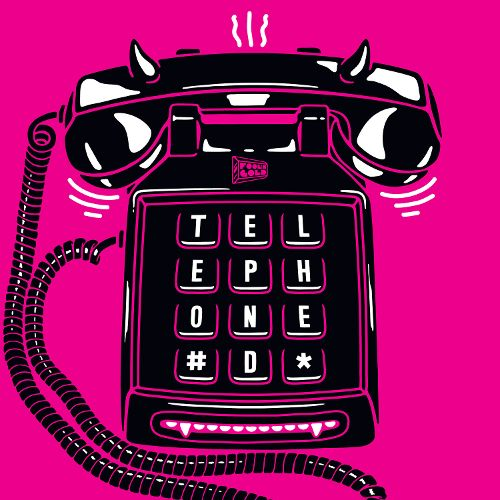 telephoned