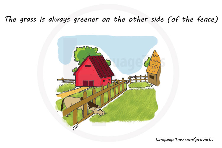 the grass is always greener on the other side of the fence